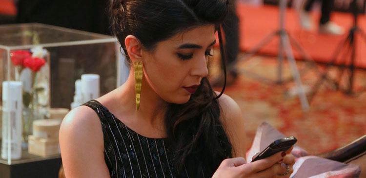 Sadaf Zarrar wearing Zohra Rahman earrings
